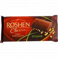 Шоколад черный «Roshen» с сезамом, 90 г.