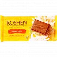 Шоколад молочный «Roshen» с сезамом, 90 г.