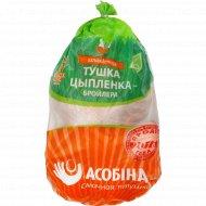 Тушка цыпленка-бройлера «Асобiна» охлажденная, 1 кг., фасовка 2.1-2.8 кг