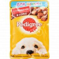 Корм для щенков «Pedigree» c говядиной в соусе 85 г.