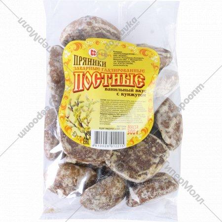 Пряники «Постные» ванильный вкус с кунжутом, 300 г.
