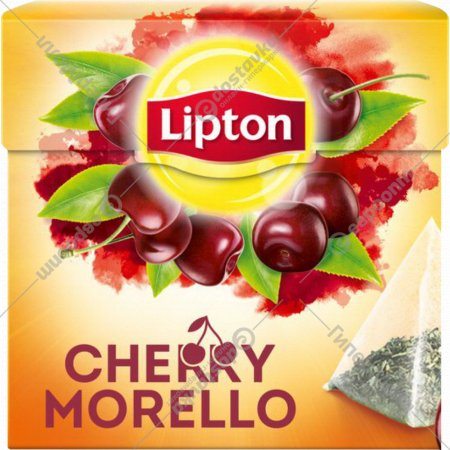 Чай чёрный «Lipton» вишня, 20 пакетиков.