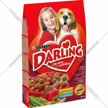 Корм для собак «Darling» с мясом и добавлением овощей, 10 кг.