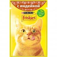 Корм для взрослых кошек «Friskies» с индейкой в подливе, 85 г.