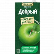 Сок «Добрый» яблочный, 2 л.