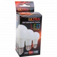 Лампочка LED A60, 10W, E27, 3000K.