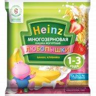 Каша многозерновая йогуртная «Heinz» банан, клубника, 30 г.