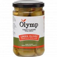 Оливки «Olymp» фаршированные перцем, 300 г.