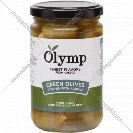 Оливки «Olymp» фаршированные миндалем, 300 г.