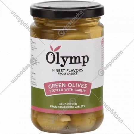 Оливки «Olymp» фаршированные чесноком, 300 г.