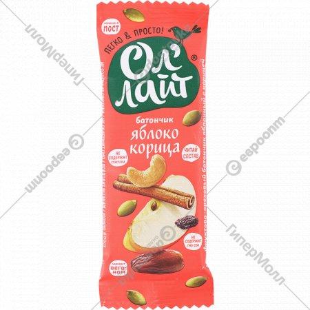 Батончик фруктово-ореховый «Ол'Лайт» яблоко и корица, 30 г