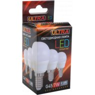 Лампочка LED G45, 7W, E14, 3000K.