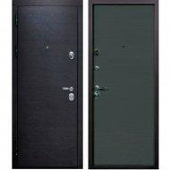 Дверь входная «Staller» Диона, Венге черный/Грей кроскут, R, 205х86 см