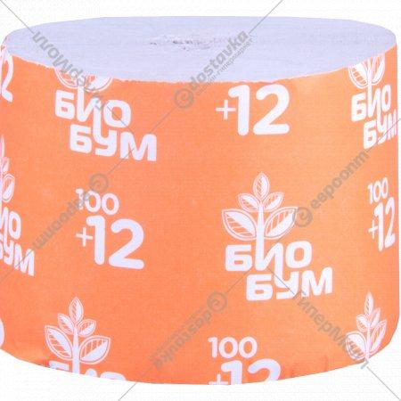 Бумага туалетная «Био Бум» 102 м, 1 рулон.