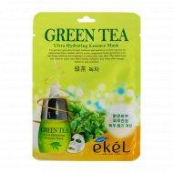 Маска тканевая «Ekel» для лица с экстрактом зеленого чая, 25 мл.