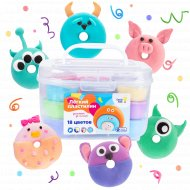 Набор для лепки «Genio Kids-Art» Лёгкий пластилин, 18 цветов, TA1724