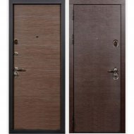 Дверь входная «Staller» Диона, Венге черный/Венге кроскут, L, 205х96 см