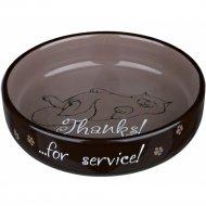 Миска «Trixie» для коротконосых пород кошек, с рисунком, D15х300 мл.