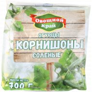 Огурцы корнишоны солёные «Овощной Край» 700 г.