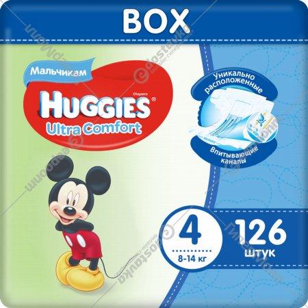 Подгузники «Huggies» Ultra Comfort, размер 4, 8-14 кг, 126 шт.