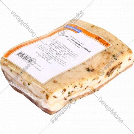 Грудинка «Домашняя» соленая, 1 кг., фасовка 0.2-0.4 кг