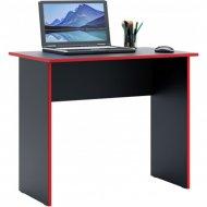 Письменный стол «MFMaster» Милан-85, черный/красный