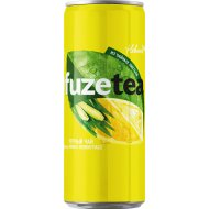 Чай черный «Fuzetea» со вкусом лимон-лемонграсс, 0.33 л.