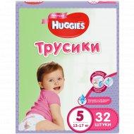 Трусы-подгузники «Huggies» для девочек, размер 5, 13-17 кг, 32 шт