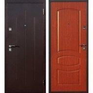 Дверь входная «Йошкар» Стройгост 7-2, Медный антик/Итальянский орех, L, 206х86 см