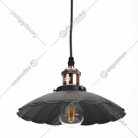 Светильник подвесной «ЭРА» PL3 BK/RC, E27.