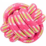 Игрушка «Trixie» для собак веревочный мяч, 9 см.