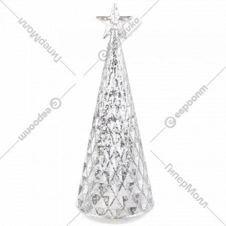 Статуэтка новогодняя «Belbohemia» Ёлка, светящаяся, 25 см, белый.