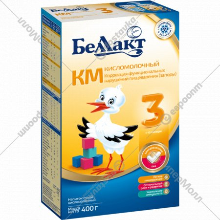 Напиток сухой кисломолочный «Беллакт» КМ-3, 400 г.