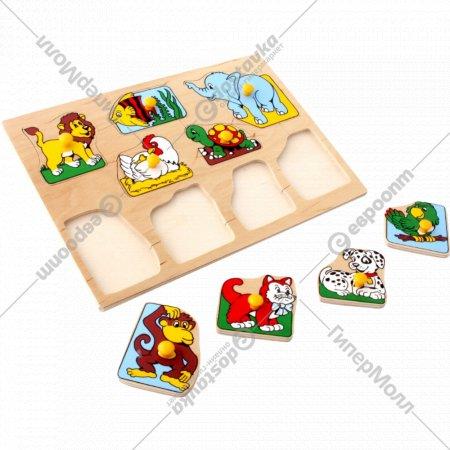 Деревянная рамка-вкладыш «Животные».