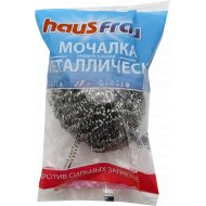 Мочалка металлическая «Haus Frau» против сильных загрязнений, 1 шт.