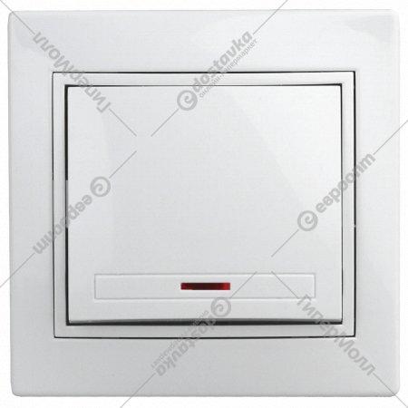 Выключатель «Intro» 1-102-01, c подсветкой, IP20, СУ.