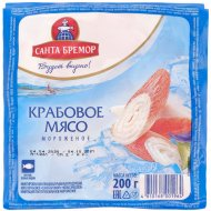 Крабовое мясо «Санта Бремор» замороженное 200 г.