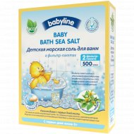 Детская морская соль «Babyline» для ванн с чередой, 500 г.