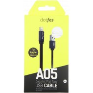 Кабель USB «Dotfes» A05 lightning, 1 м.