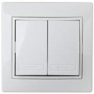 Выключатель «Intro» 1-104-01, двойной, 10А-250В, IP20, СУ.