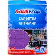 Салфетки из микрофибры «HausFrau» антижир, 1 шт.