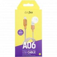 USB-кабель «Dotfes» A05 Lightning, 1 м.
