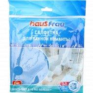 Салфетка «Haus Frau» из микрофибры повышенной впитываемости для ванной комнаты, 1 шт.