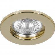 Светильник потолочный встраиваемый MR16 G5.3 золото, DL10.