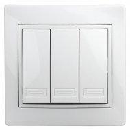 Выключатель «Intro» 1-106-01, тройной, 10А-250В, IP20, СУ.