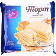 Торт бисквитный «Конти» молочно-медовый, 350 г.