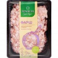 Фарш мясной «Из цыпленка со шпиком» трумф, охлажденный, 1 кг., фасовка 1.3-1.5 кг