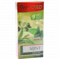 Чай зелёный «Milford» с мятой, 20 пакетиков.