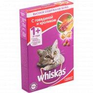 Корм для кошек «Whiskas» говядина, кролик, ягнёнок, 350 г.