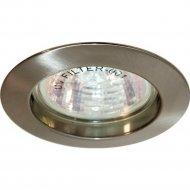 Светильник потолочный встраиваемый MR16 G5.3, титан, DL307.